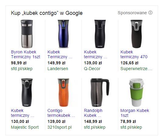 kampanie produktowe w wyszukiwarce Google