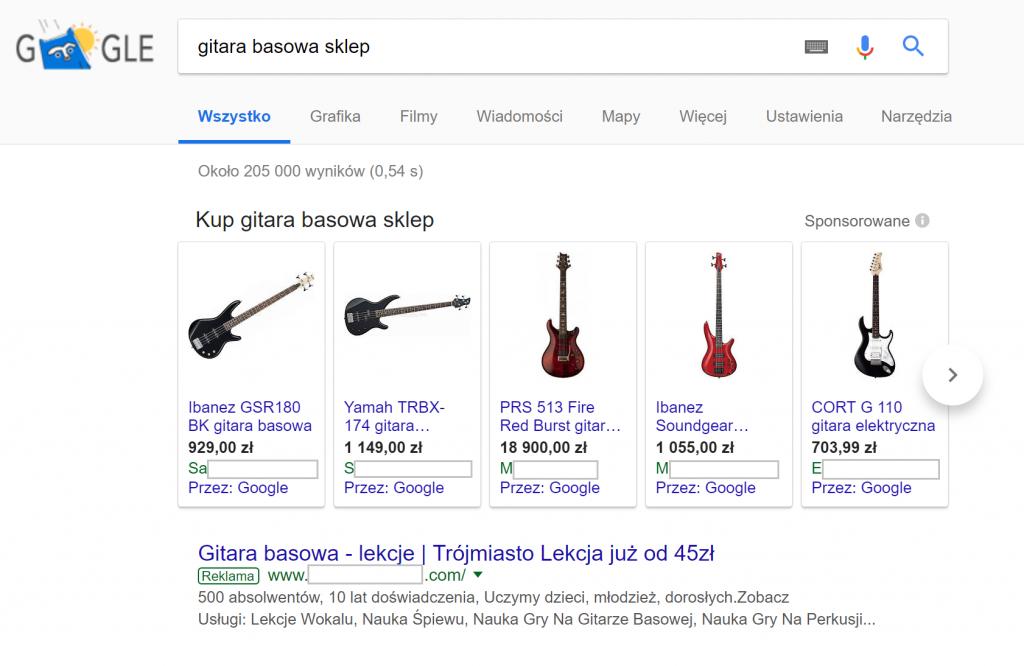 google zakupy gitara basowa