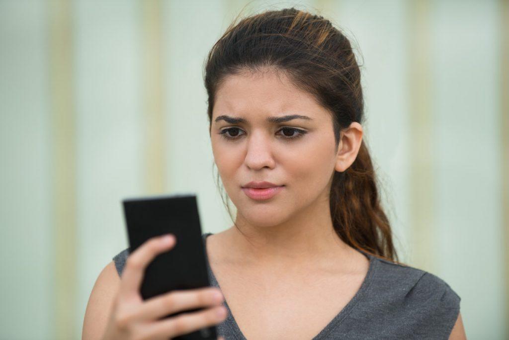 telefon zakupy kobieta